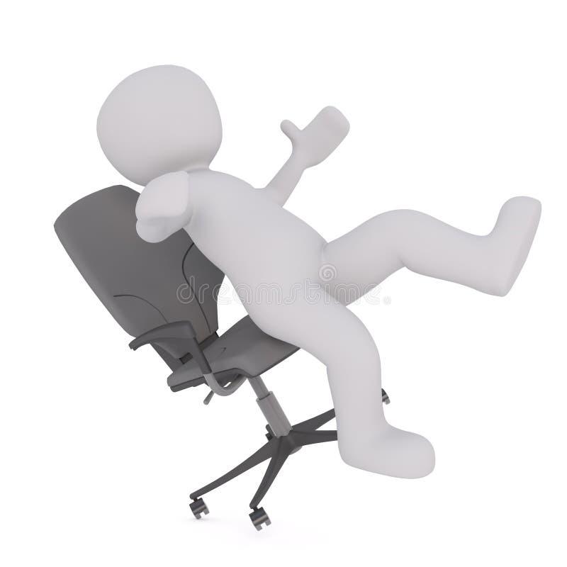 Falling Off Office Chair Stock Illustration Illustration