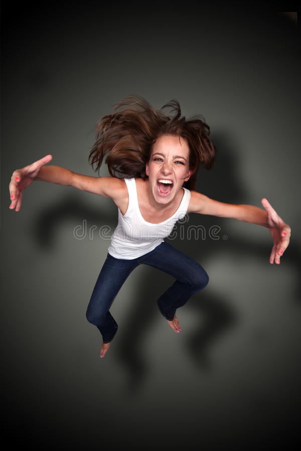 Download Falling Person Screaming With Arms Outstretched Stock Photo - Image: 20931716