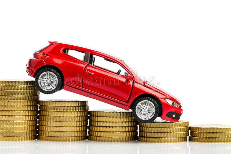 Falling profits in the motor trade royalty free stock photo