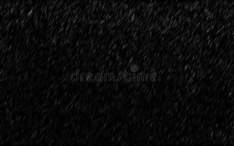 Falling raindrops isolated on dark background. Heavy rain and weather storm in raining season. Effect stock photos