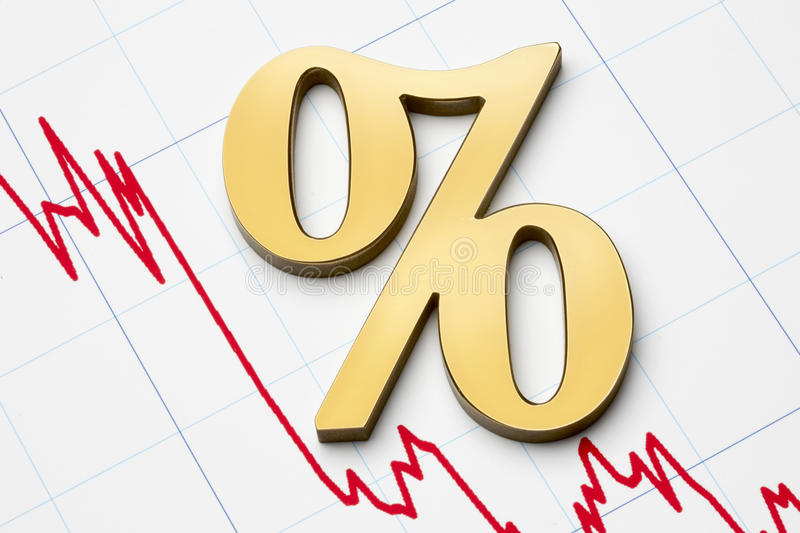 Falling rates stock photos