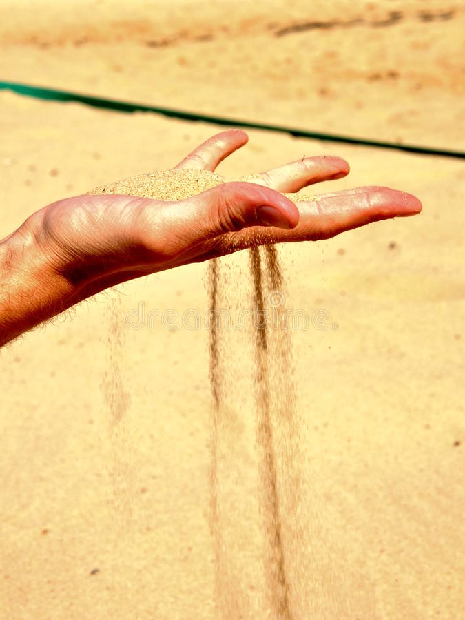 Download Falling sand from hand stock image. Image of warm, beach - 33422129