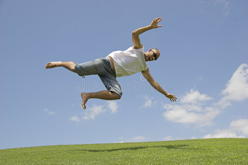 Falling from the sky stock photos