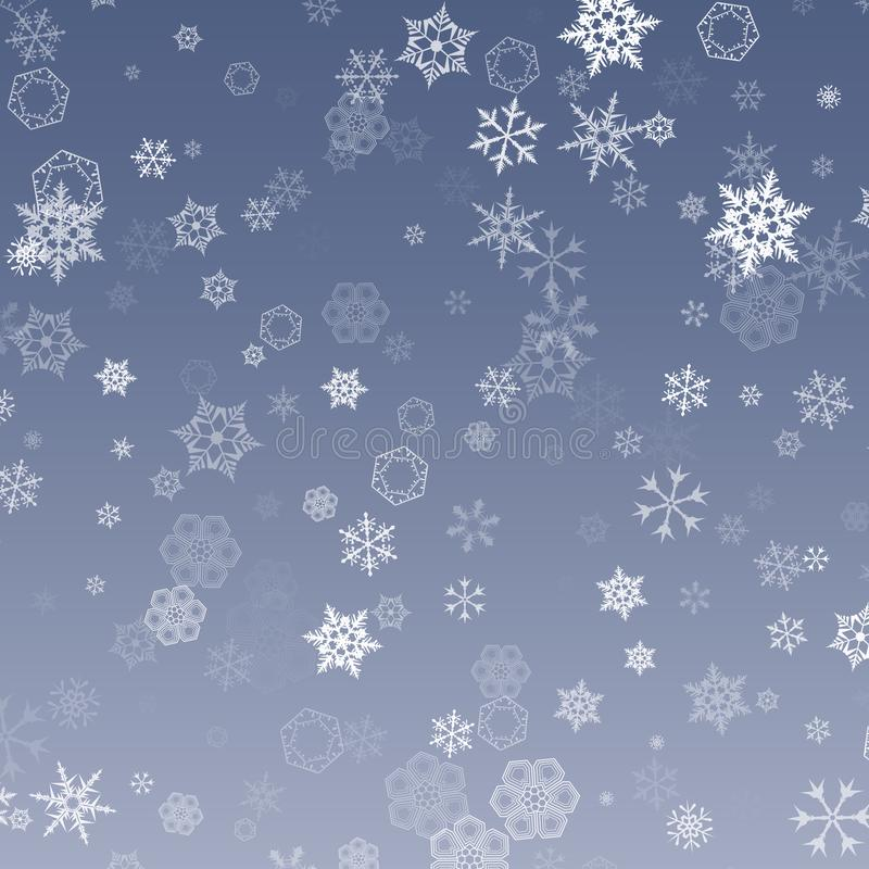 Free Falling Snow. Abstract Snowflake Background For Your Winter Design. Vector Illustration Royalty Free Stock Photos - 117753668