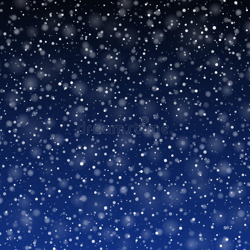 Falling snow. Background illustration