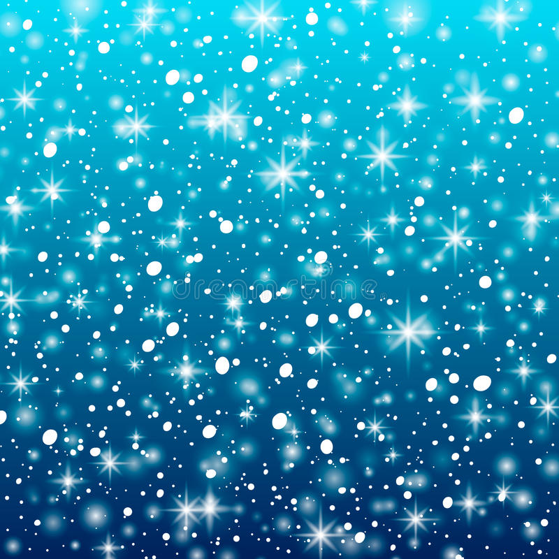 Falling snow on a blue background. Vector illustration 10 EPS. Abstract white glitter snowflake background. Vector magic Christmas. Eve snowfall vector illustration