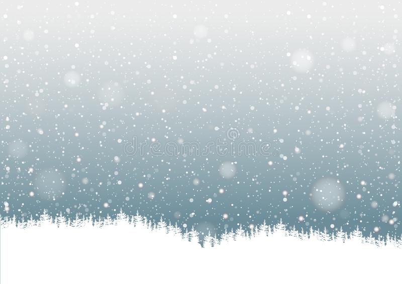 Falling Snow royalty free illustration