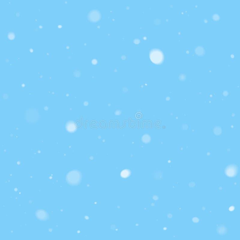 Falling snow vector illustration. Falling snow background texture vector illustration stock illustration