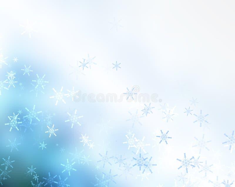 Falling snowflakes stock illustration