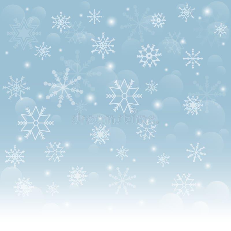 Falling snowflakes royalty free illustration