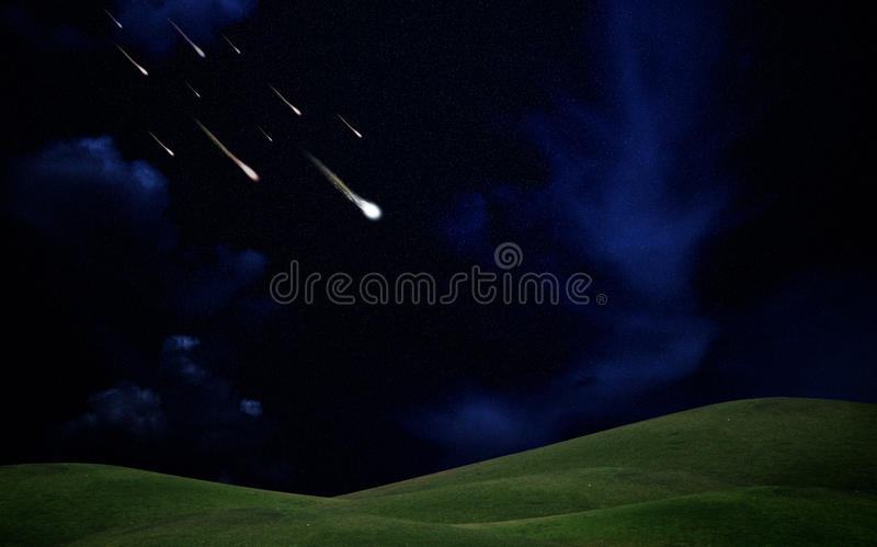 Falling stars stock photos