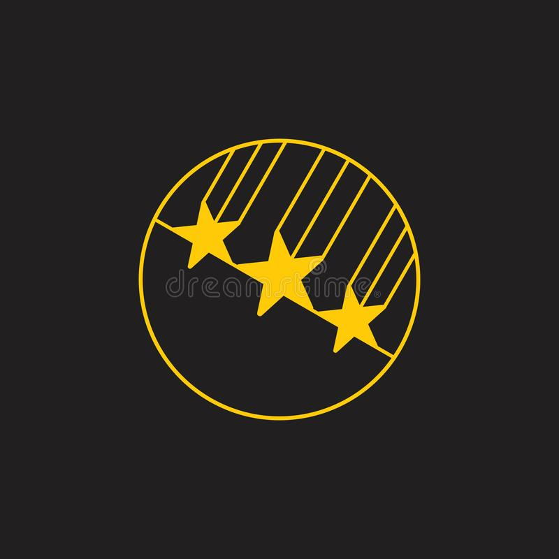 Falling stars fast movement geometric logo vector royalty free illustration