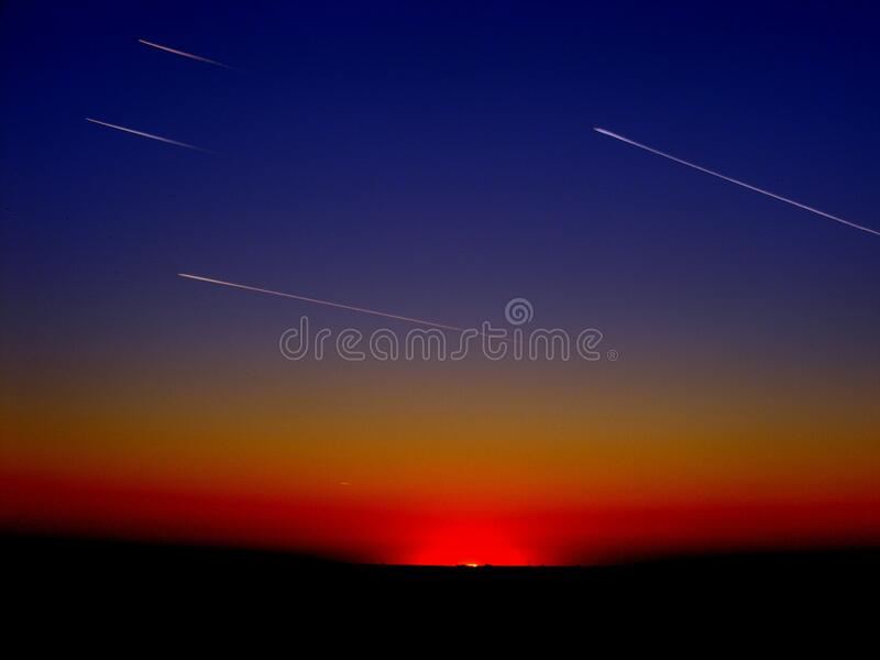 Falling Stars At Night Free Public Domain Cc0 Image