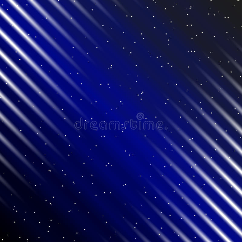 Falling of stars. In the night sky royalty free illustration