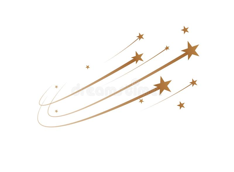 The falling stars are a simple drawing. Vector. Illustration stock illustration