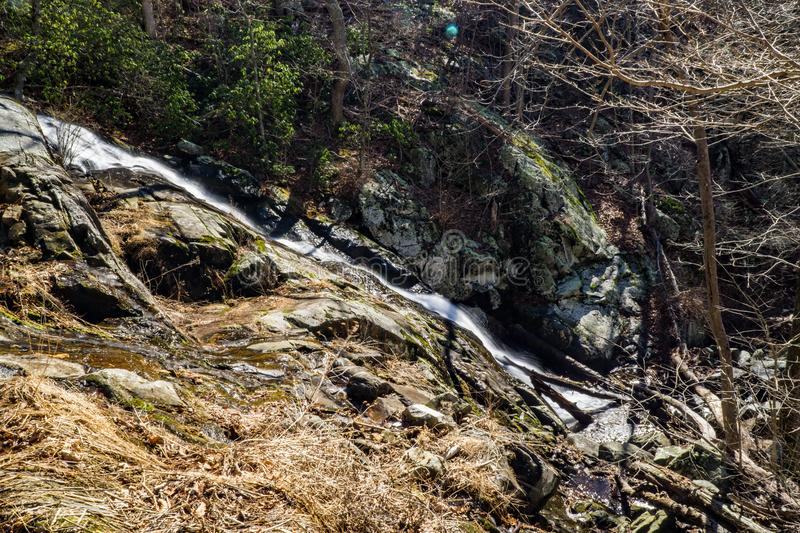 Falling Water Cascades - Winter royalty free stock image