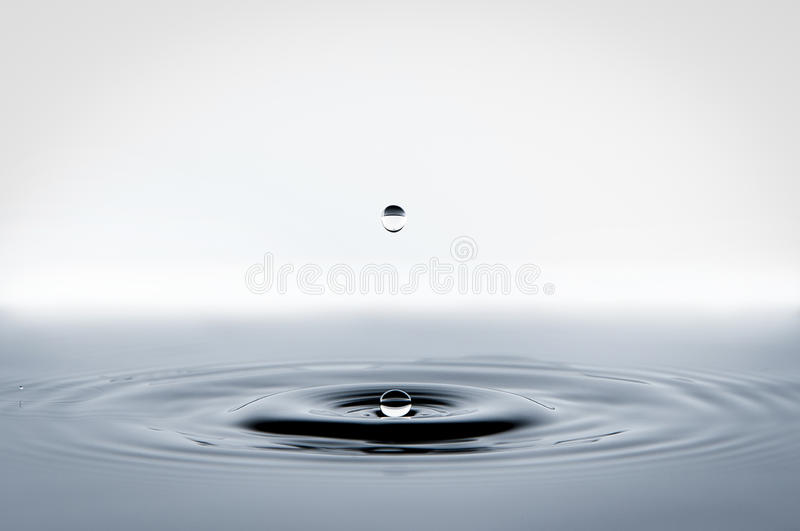 Falling water drop royalty free stock photos
