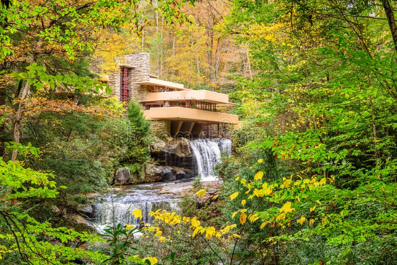 Falling Water House royalty free stock photography