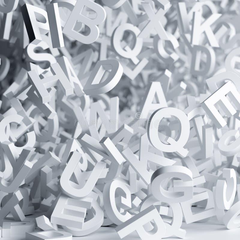 Download Falling white letters stock illustration. Illustration of fantasy - 105241503