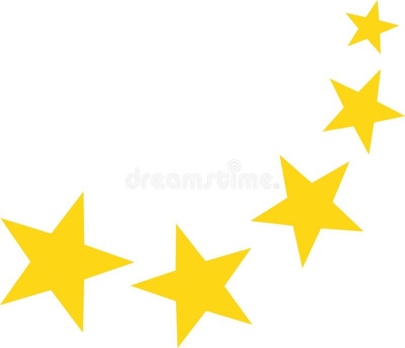 Falling yellow stars. Symbol vector vector illustration