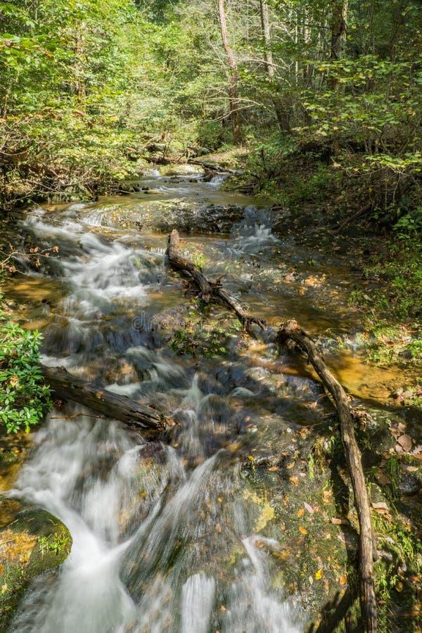 Fallingwater小河,弗吉尼亚,美国蓝岭山脉  免版税库存照片