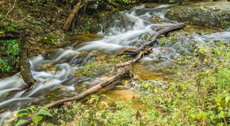 Fallingwater Creek in the Blue Ridge Mountains of Virginia, USA royalty free stock photography