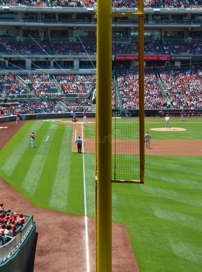 Fallo Palo di MLB immagini stock libere da diritti