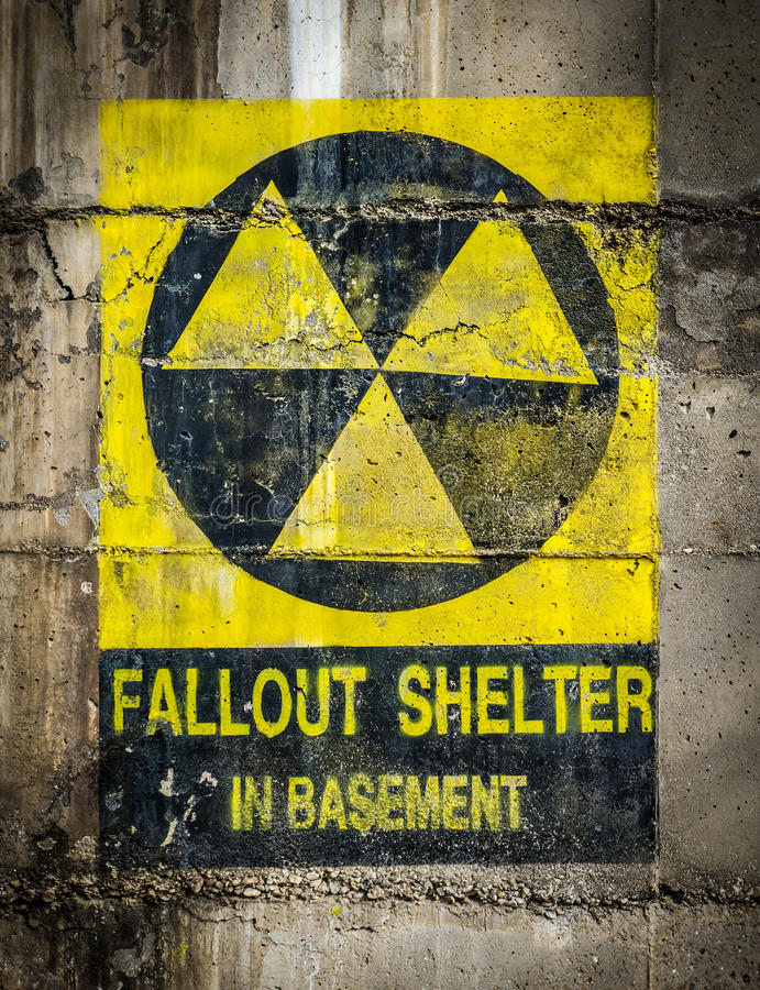 Fallout Shelter royalty free stock photos