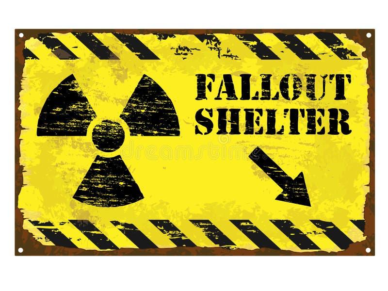 Fallout Shelter Radiation Sign vector illustration