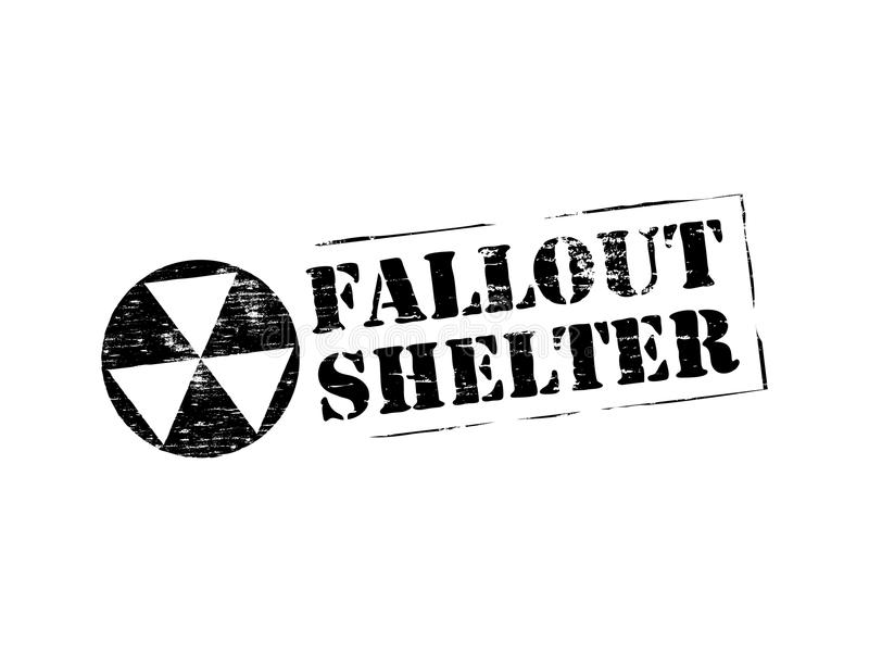 Fallout Shelter Rubber Stamp Stock Vector Illustration Of Label