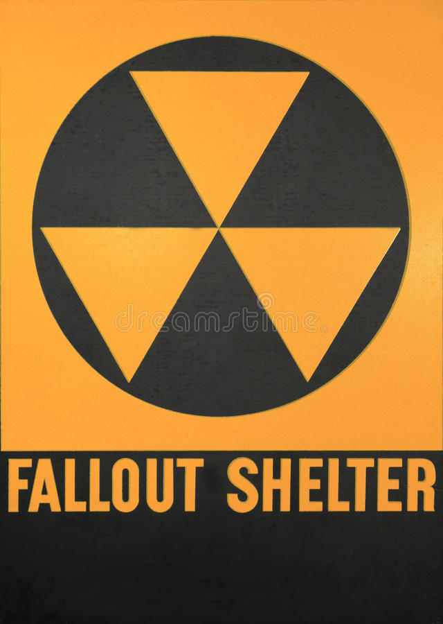 Fallout Shelter Sign royalty free stock photography