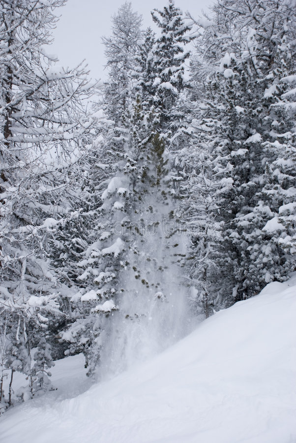 falls 3 śnieg zdjęcie stock