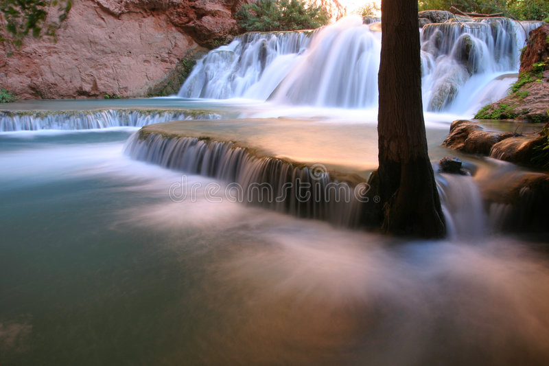 Falls along Havasu Creek, Arizona royalty free stock photography