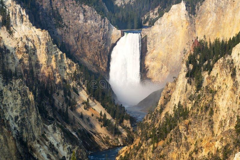 falls fäller ned yellowstone arkivfoton