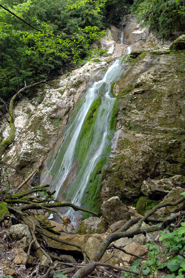 Free Falls In Mountains Of Caucasus Royalty Free Stock Image - 5003536