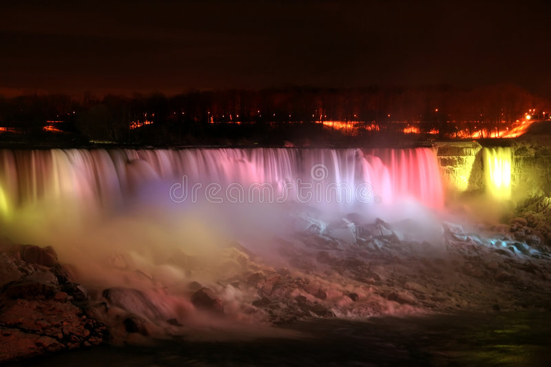 falls light niagara rainbow στοκ εικόνες με δικαίωμα ελεύθερης χρήσης