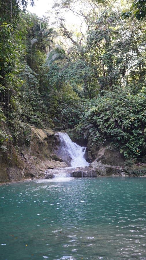 Mag-Aso Falls, Bohol, Filipino. This falls are the most important of the Bohol island stock photography