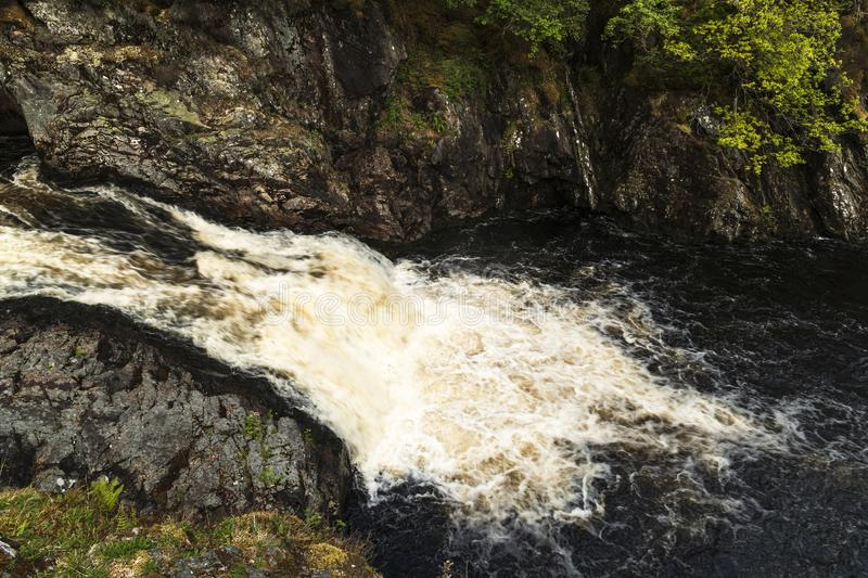 Falls of Shin. The Falls of Shin near the Sutherland town of Lairgs, Scotland royalty free stock images