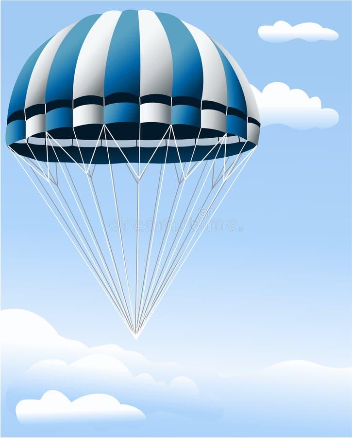 Fallschirm lizenzfreie abbildung