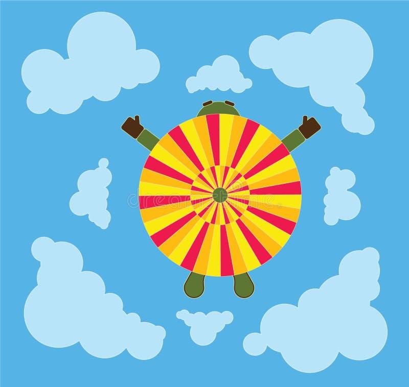 Fallschirm von oben stockbild