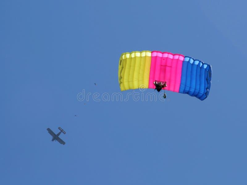 Fallschirmabsprung stockbilder