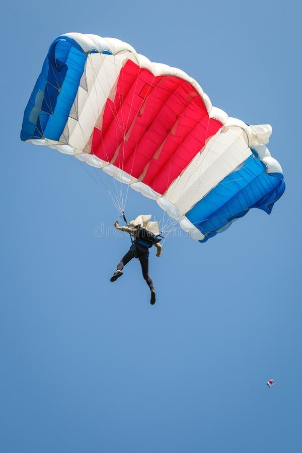 Fallskärmshoppare fotografering för bildbyråer