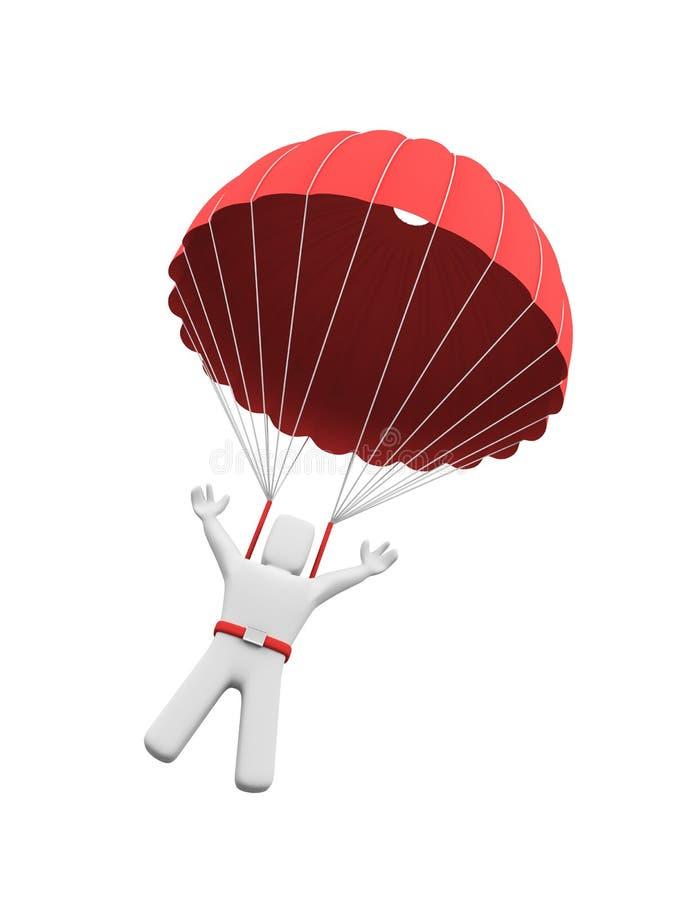 fallskärmsjägare royaltyfri illustrationer