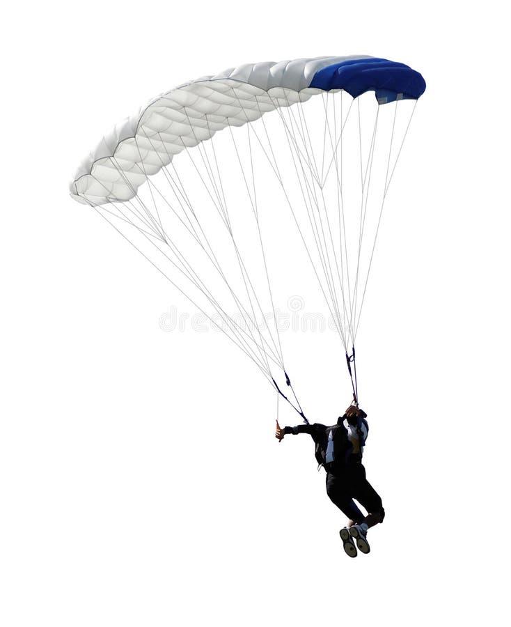 Isolerad Parachutist royaltyfri foto