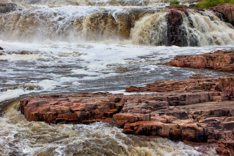 Fallsna av den stora Sioux floden royaltyfri fotografi
