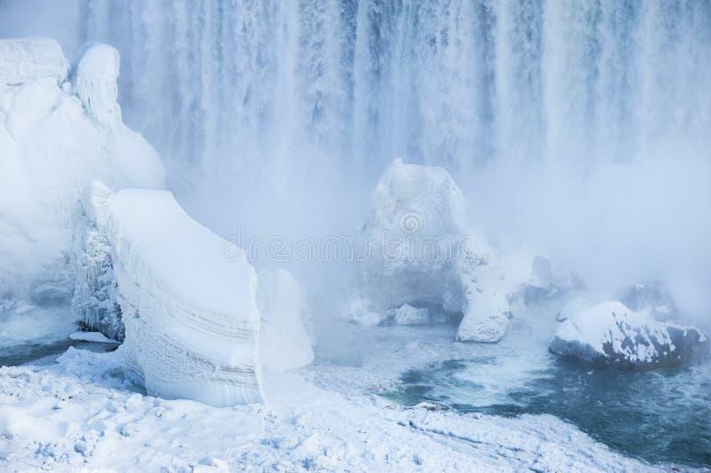 fallsniagara vinter royaltyfria foton