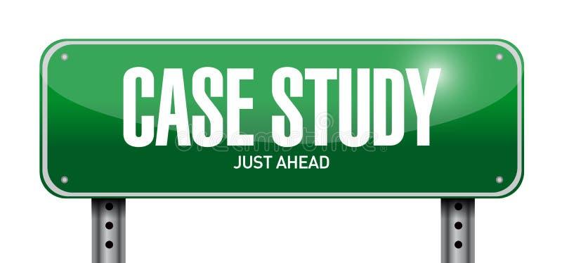 Fallstudie-Beitragszeichenkonzept stock abbildung