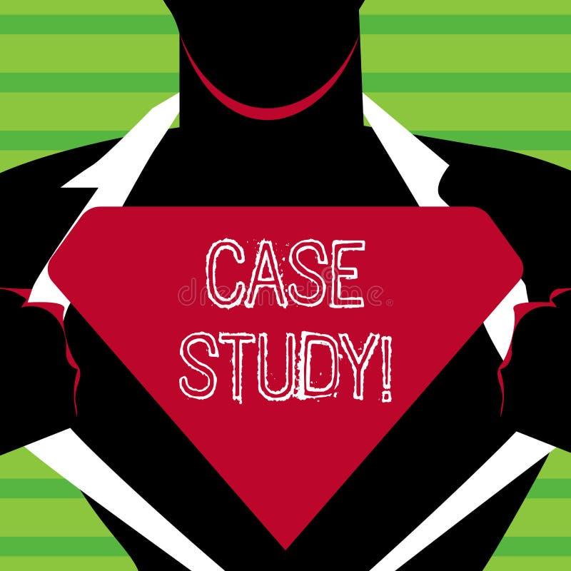 Fallstudie för ordhandstiltext Affärsidé för rekord av forskning in i utveckling av den särskilda lägemannen in royaltyfri illustrationer