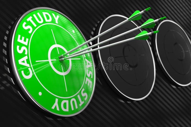 Fallstudie - grünes Ziel. lizenzfreie stockfotografie