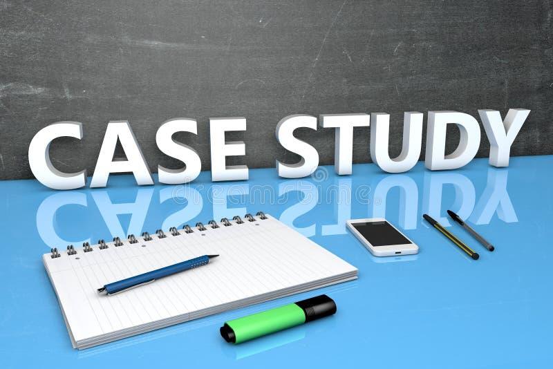 Fallstudie-Textkonzept stockbild
